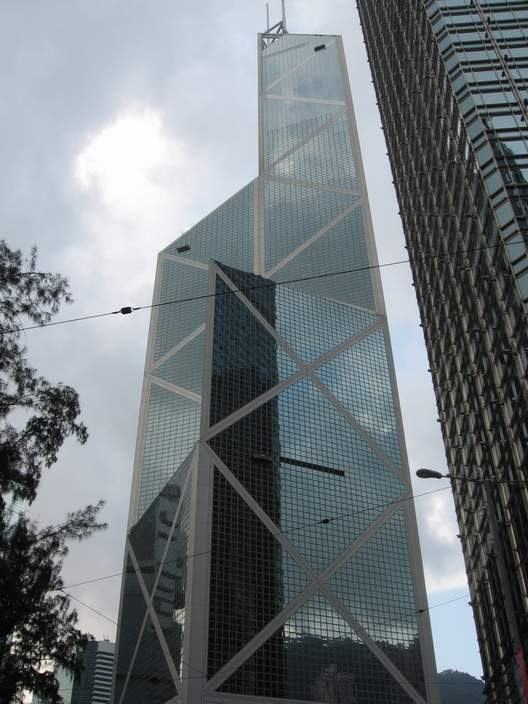 The Bank of China tower.  This building is often accused of having bad feng shui.