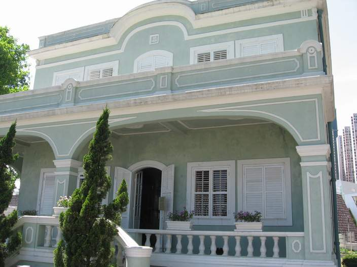 One of the Taipa houses.