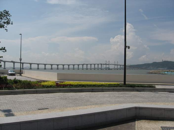 One of the three bridges linking the peninsula and Taipa sides of Macau.